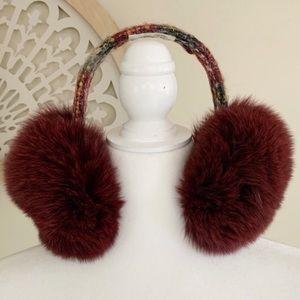 Lola Tweed Fox Fur Earmuffs Accessories OS